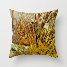 The Garden Of Faith and Hope-Abstract Throw Pillow