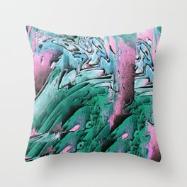 Glitch Dripped Throw Pillow