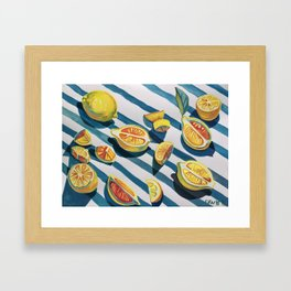 """When life gives you lemons"" Framed Art Print"
