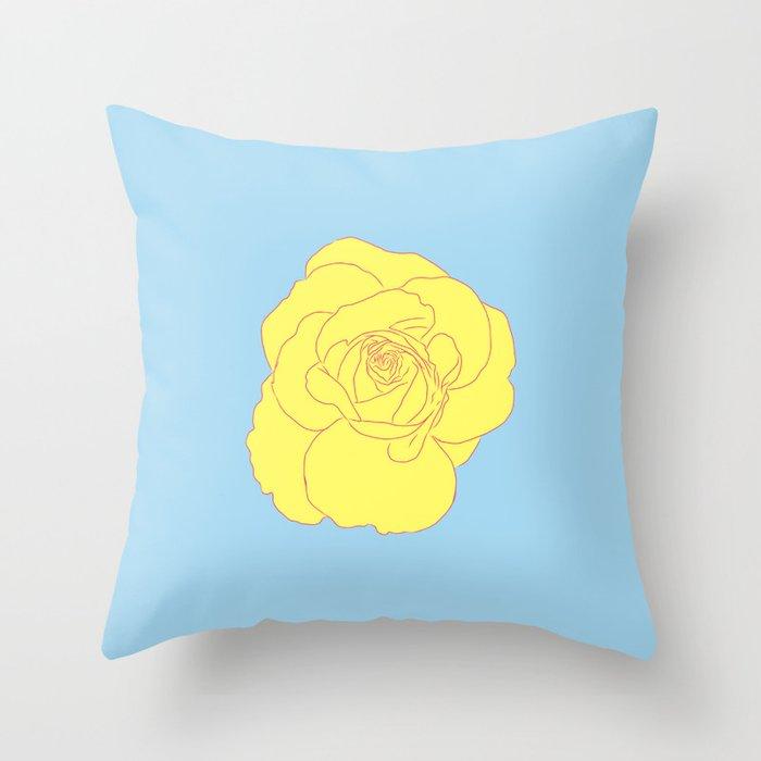 a yellow rose Deko-Kissen