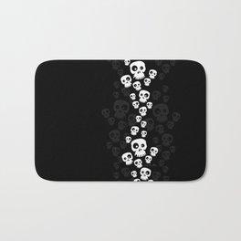Skulls Fun - black/white Bath Mat