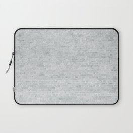 White Washed Brick Wall Stone Cladding Laptop Sleeve