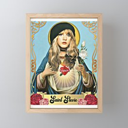 Saint Stevie Nicks Framed Mini Art Print