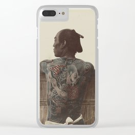19th Century Japanese Tattoo (Fence) Clear iPhone Case