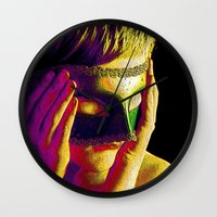 anonymous Wall Clocks featuring Anonymous  by Dream Realm Photography and Art