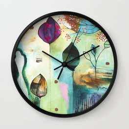 """Abundance"" Original Painting by Flora Bowley  Wall Clock"