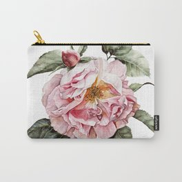 Wilting Pink Rose Watercolor Carry-All Pouch