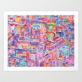 Big City Feeling Art Print