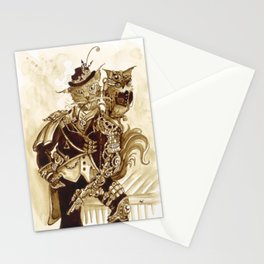 Sir Whiskerfur and Lieutenant Colonel Beaker Stationery Cards