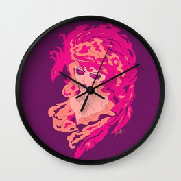 Firy Woman Wall Clock
