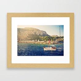 Capri in Sunlight  Framed Art Print
