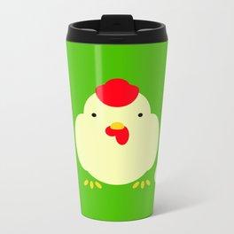 Chicken, cock. Metal Travel Mug