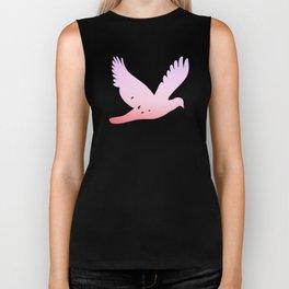 birds in the sky rose Biker Tank