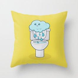 Bathroom Break Throw Pillow