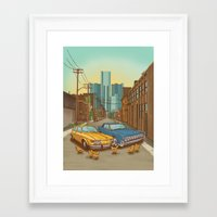 detroit Framed Art Prints featuring Detroit by Cait Maloney Creative