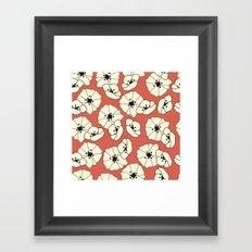 Retro bloom 004 Framed Art Print