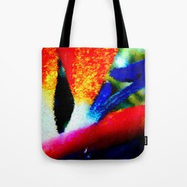 Bird of Paradise Abstract Tote Bag
