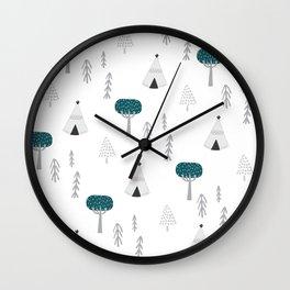 Scandi Forest Wall Clock