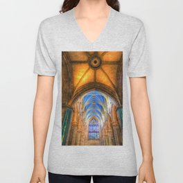 St Giles Cathedral Edinburgh Unisex V-Neck