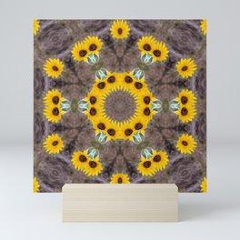 Sunflower mandala Mini Art Print