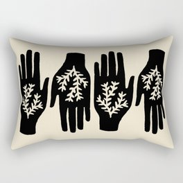 Token - black / cream Rectangular Pillow