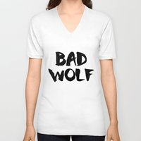 bad wolf V-neck T-shirts featuring Bad Wolf  by Freak Clothing