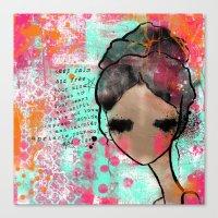 keep calm Canvas Prints featuring keep calm by SannArt