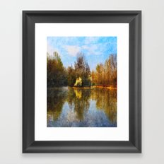 Autumn Lake Framed Art Print