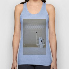 Lifeguard tower Unisex Tank Top