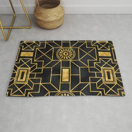 Art Deco Romance: Greeting the Dawn With French Cognac Rug