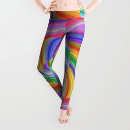 Color spiral pattern Leggings