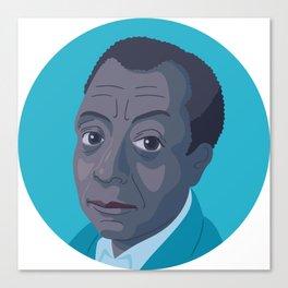 Queer Portrait - James Baldwin Canvas Print
