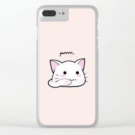 Purrring Kawaii Kitten MEOW! =(^_^)= Clear iPhone Case