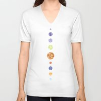 planets V-neck T-shirts featuring Planets by Dorothy Leigh
