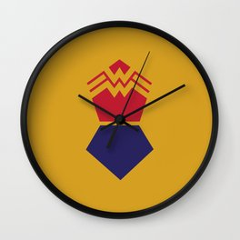 WonderWoman Alternative Minimalist Poster Wall Clock