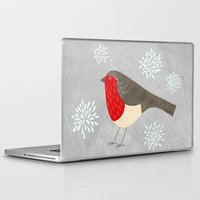 robin Laptop & iPad Skins featuring Robin by Nic Squirrell