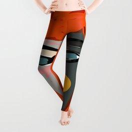 Mysterious Girl Portrait Stefania Style Art Leggings