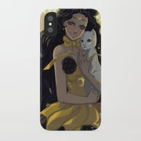 sailormoon iPhone & iPod Cases featuring Luna by Mika