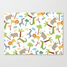 A HAPPY DAY  IN JUNGLE Canvas Print
