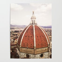 Duomo - Hazy, Florence Photography Poster