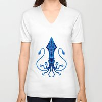 squid V-neck T-shirts featuring Squid by Bahadır Tez