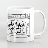 snl Mugs featuring SNL Stage by Liana Spiro
