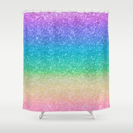 Rainbow Glitter Shower Curtain