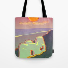 Red Moon Summer Vibrations Tote Bag