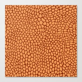 Reptile Pattern Rust and Peach Canvas Print