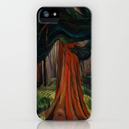 Emily Carr - Red Cedar - Canada, Canadian Oil Painting - Group of Seven iPhone Case