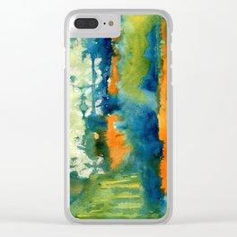 Aquamarine Dreams Clear iPhone Case