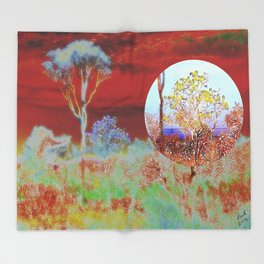The Planet of the Yellow Flowers 10 Throw Blanket