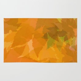 Autumn leaves pastel Rug