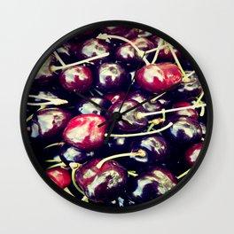 sweet cherries Wall Clock